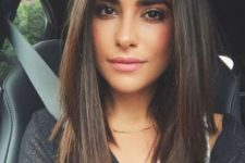 10 a layered long bob on straight smooth hair looks chic and needn't anything else