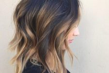 12 a messy wavy long bob with balayage is effortlessly chic