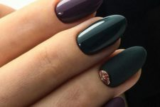 12 forest green and ultra violet nails, the latter being the trend of the next year