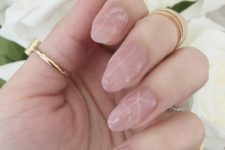 13 pink marble nails look just wow, very natural and beautiful