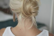 14 a messy twisted low bun will take just 1 minute to make
