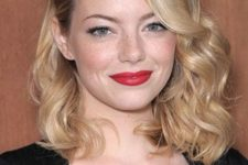 14 chic girlish waves and a red lip is a gorgeous combo for any holiday party