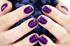 14 shiny ultra-violet manicure for those who are ready to rock bold colors