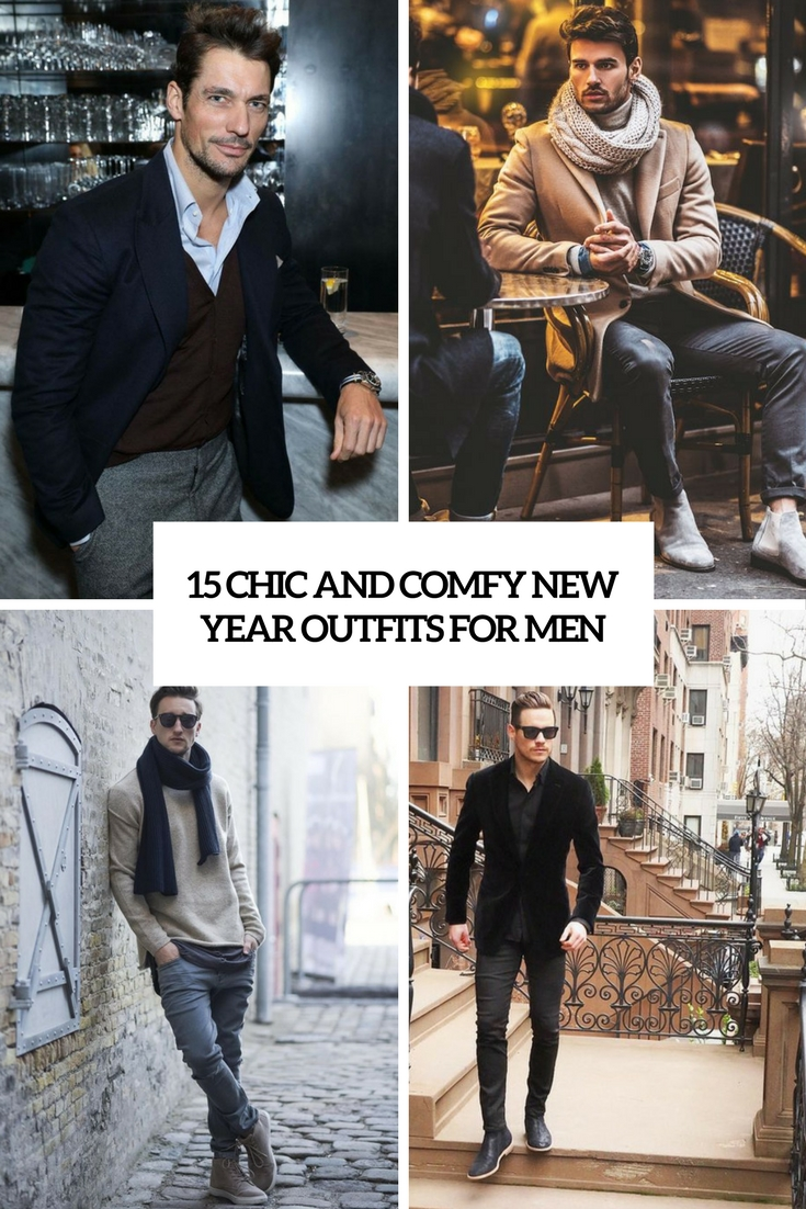 15 Chic And Comfy New Year Outfits For Men