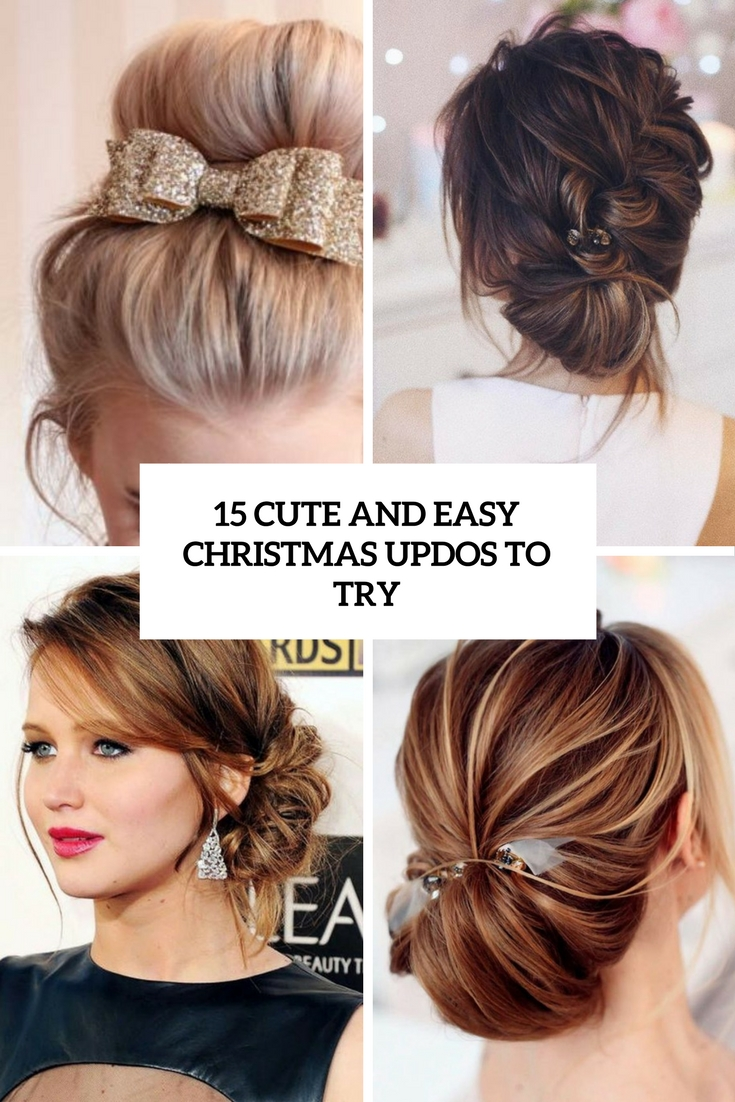 15 Cute And Easy Christmas Updos To Try