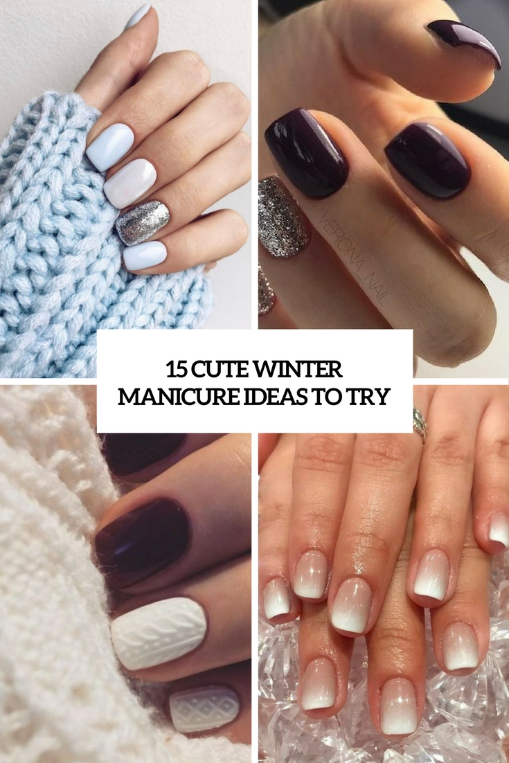 15 Cute Winter Manicure Ideas To Try Styleoholic