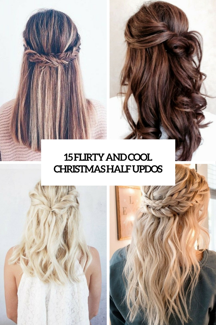 15 Flirty And Chic Christmas Half Updos - Styleoholic