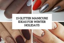 15 glitter manicure ideas for winter holidays cover