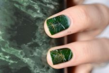 15 green marble with a gold glitter touch are amazing for a trendy look