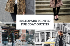 20 Leopard Printed Fur Coat Outfits