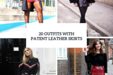 20 Outfits With Patent Leather Skirts For This Winter