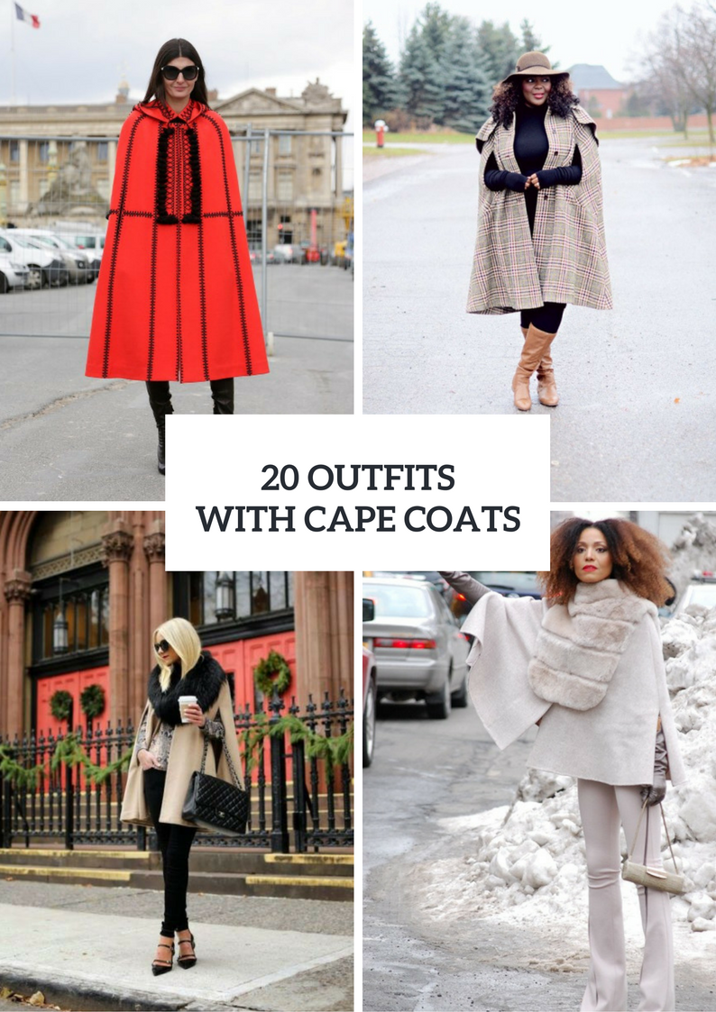 Winter Outfit Ideas With Cape Coats