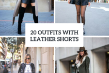 20 Winter Outfits With Leather Shorts