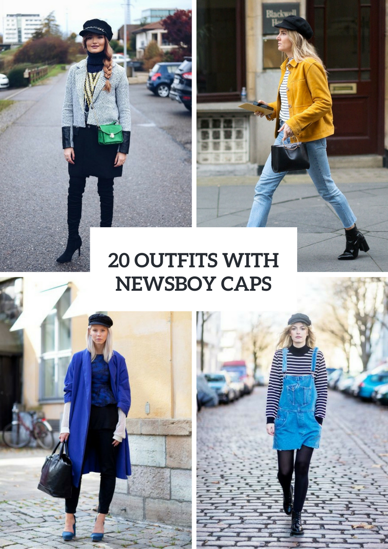 Winter Outfits With Newsboy Caps To Repeat