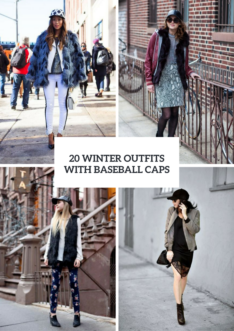 Winter Women Outfits With Baseball Caps