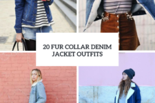 20 Women Outfits With Fur Collar Denim Jackets