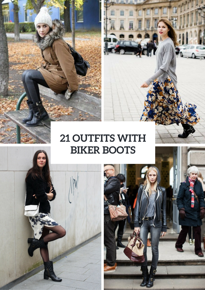 Cool Outfits With Biker Boots For This Winter
