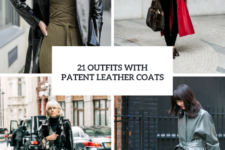 21 Winter Outfits With Patent Leather Coats