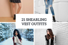 21 Women Outfits With Shearling Vests