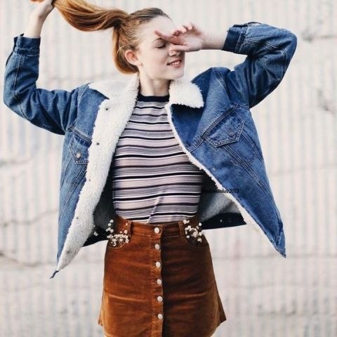 20 Women Outfits With Fur Collar Denim Jackets advise