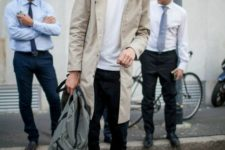 stylish men look with a backpack