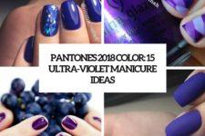 pantone's 2018 color 15 ultra-violet manicure ideas cover