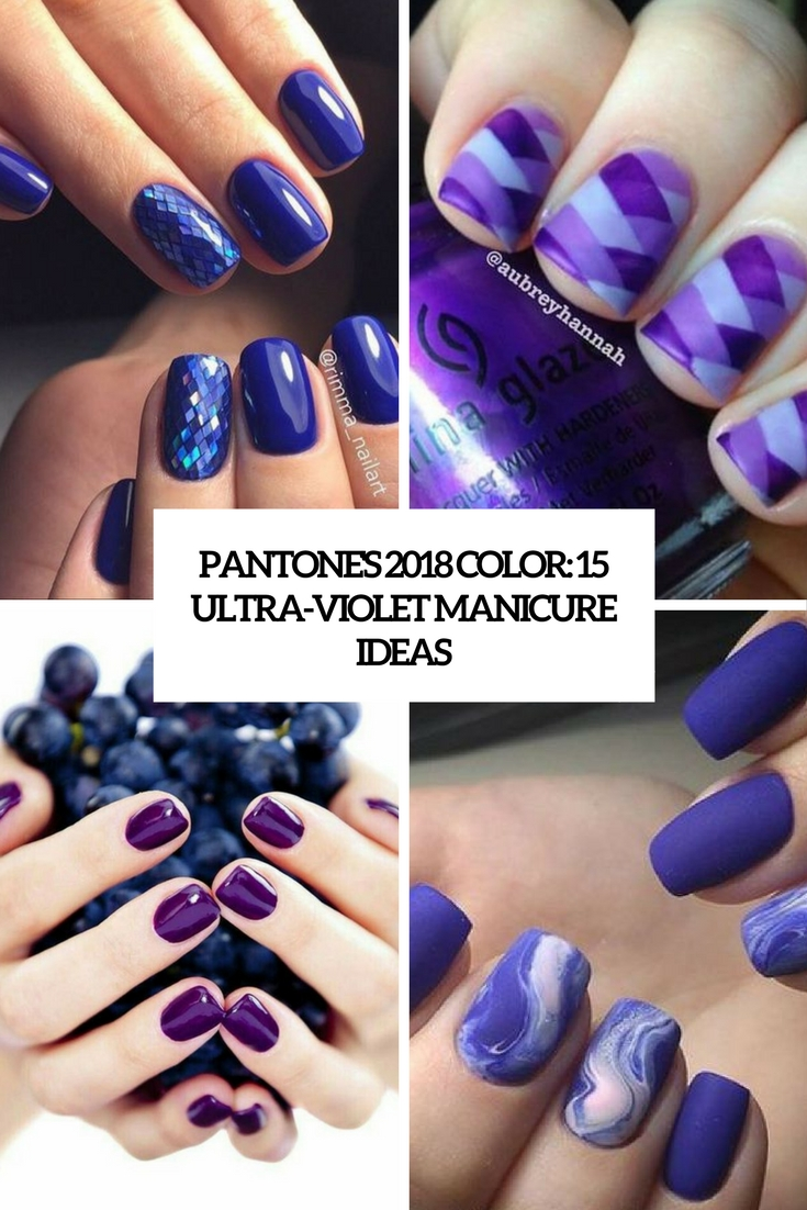 pantone's 2018 color 15 ultra violet manicure ideas cover