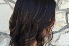 02 black wavy bob with subtle bronde balayage gets a dimension at once