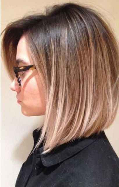 Cool Balayage Ideas For Short Hair Dark Roots Blonde