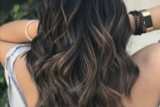 04 black hair with dark ash brown balayage to stand out