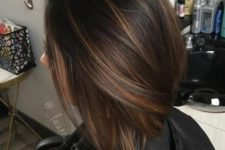 04 chocolate brown straight bob with light caramel balayage to give it a dimension