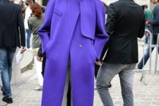 04 ultraviolet modern coat is a chic and trendy idea to wear this winter