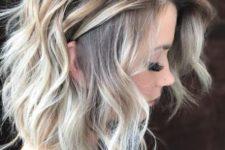 05 medium layered bob haircut with blonde balayage on light brunette hair