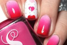 ombre pink nail art