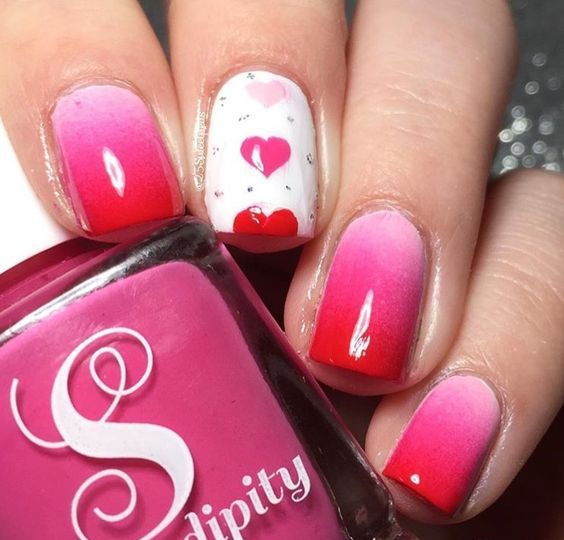 15 Heart Nail Designs For Valentines Day Styleoholic