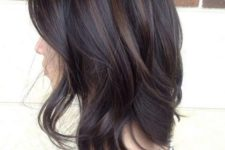 06 dark chocolate hair with lighter brunette highlights