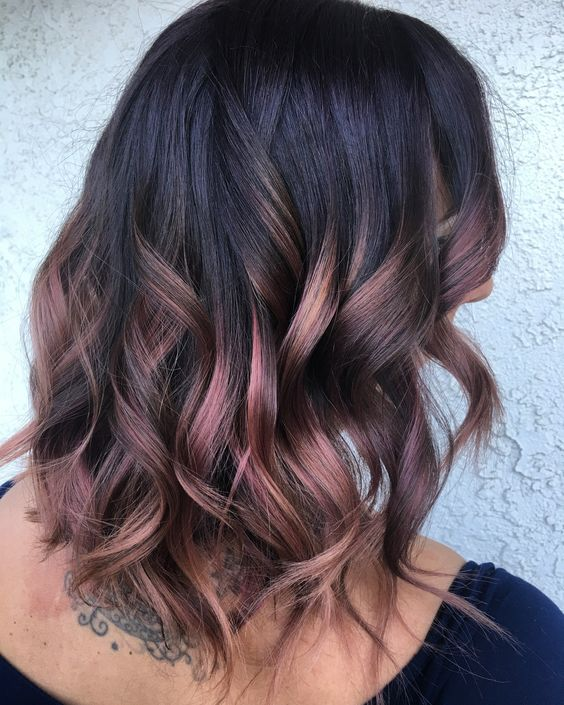 15 Stylish Rose Gold Balayage Ideas Styleoholic