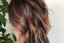 09 brunette hair with subtle rose gold balayage for an elegant touch