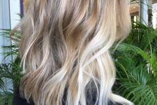 11 light brown hair with balayage of various shades of blonde for a fashionable and feminine look