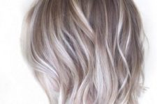 12 light brown short bob with icy and ash blonde balayage for a trendy modern look