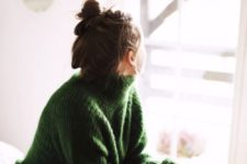 13 messy top knot seems to be the most popular casual hairstyle in the winter