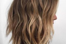 blonde balayage on chestnut hair