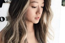 15 black hair with face-framing bronde balayage is a bold statement