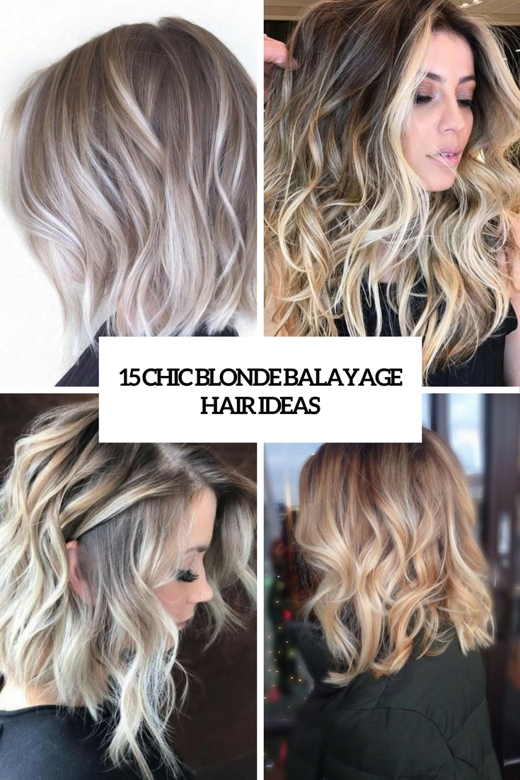 chic blonde balayage hair ideas cover
