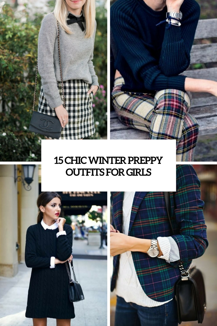 chic winter preppy outfits for girls cover