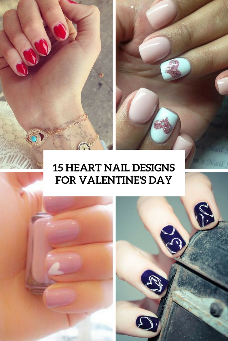 heart nail designs for valentine's day cover