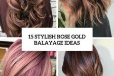 15 stylish rose gold balayage ideas cover