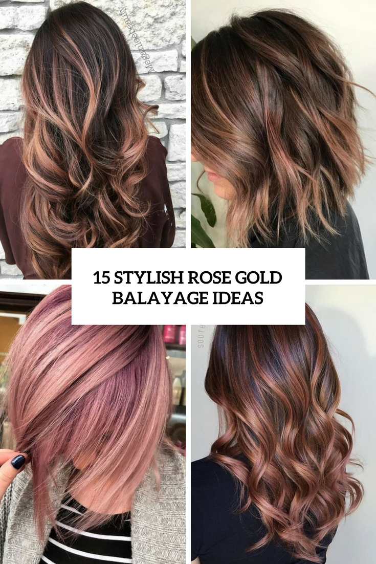 15 Stylish Rose Gold Balayage Ideas
