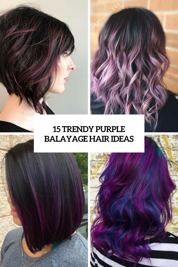 trendy purple balayage hair ideas cover