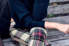 16 plaid pants and a black sweater is always a good pair